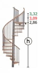 Винтовая лестница Spiral Color